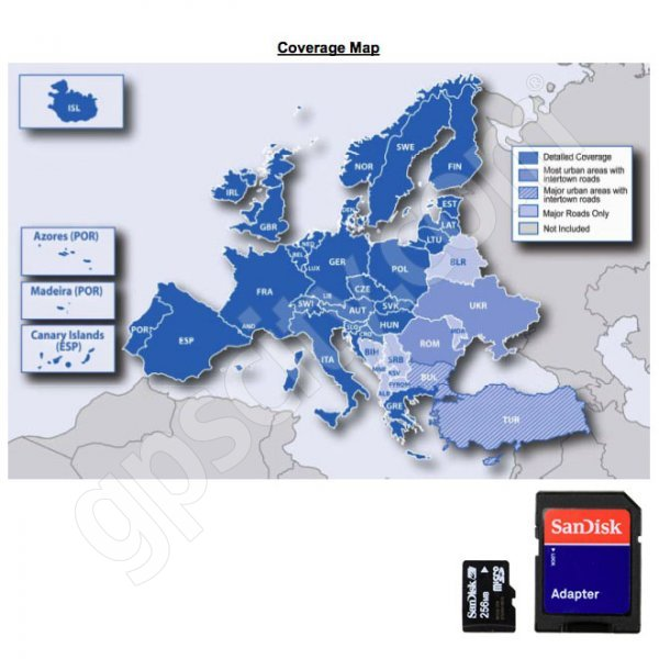 Garmin UPDATE microSD City Navigator Europe NT 2011 Card