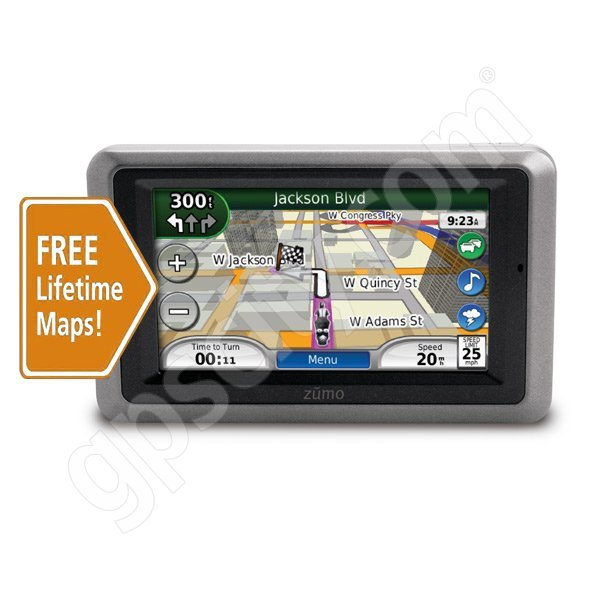 Garmin Zumo 665 with Lifetime Map Updates