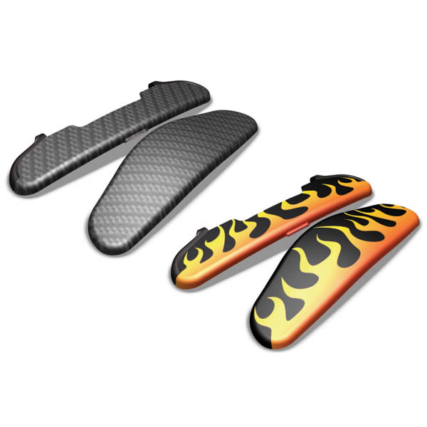 Garmin Zumo Caps with Flames and Carbon Fiber