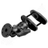 RAM Mount Round Plate Mount on 2.5 inch Clamp Base with 1.5 inch Ball and Short Arm