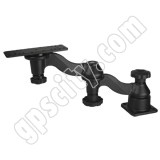 RAM Mount Horizontal Dual Bent Swing Arm with Post Plate