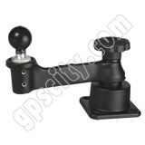 RAM Mount Horizontal Base Single Swing Arm with 1.5 inch Ball End
