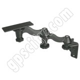RAM Mount Vertical Dual Bent Swing Arm with Post Plate