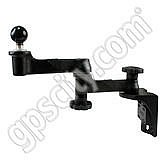 RAM Mount Vertical Base Dual Swing Arm with 1.5 inch Ball End