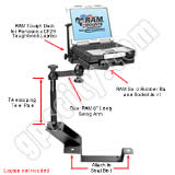 RAM Mount Chevrolet GMC CF29 Toughbook Vehicle Riser Laptop Mount