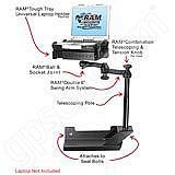 NPI RAM Dodge RAM Dual Arm Laptop Vehicle Riser Mount