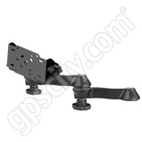 RAM Mount Double Swing Arm with 90 degree Tilt-N-Turn Plate