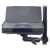 Mounting the RAM Printer Cradles with a Vehicle Laptop Mount - Click for larger view