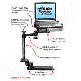 RAM Mount Chevrolet Colorado Crew Cab Dual Arm Laptop Vehicle Mount