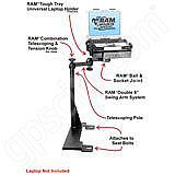 NPI RAM Ford Econoline Van Dual Arm Laptop Vehicle Mount
