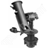 RAM Mount RAM Tube Jr Fishing Rod Holder Short 4 inch Post Round Flush Mount Base
