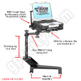 RAM Mount Chevrolet and GMC Dual Arm CF29 30 Laptop Vehicle Mount