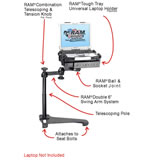 RAM Mount Honda Accord Dual Arm Laptop Vehicle Mount