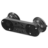 RAM Mount Dual Locking Suction Base with AMPS Pattern Assembled