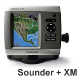 Garmin GPSMAP 430sx Sounder with Dual Beam Transducer and GXM 31