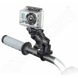 RAM Mount GoPro Zinc U-Bolt Handlebar Rail Short Arm Mount