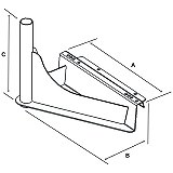 Click for larger view of the RAM-VB-140 RAM Mount Commercial Semi Truck Laptop Mount Base Dimensional Drawings