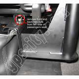 Click for larger view of the RAM-VB-140 Semi Truck Laptop Mount Installation Front View