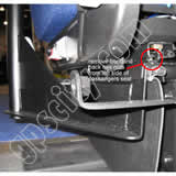 Click for larger view of the RAM-VB-140 Semi Truck Laptop Mount Installation Back View