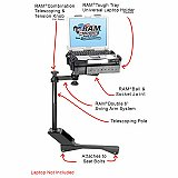 RAM Mount Chrysler Dodge Dual Arm Laptop Vehicle Mount