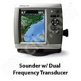 Go to the Garmin GPSMAP 526s Sounder with Dual Frequency Transducer page.