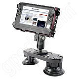RAM Mount Tough Tray II Dual Locking Suction Netbook Mount
