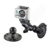 RAM Mount GoPro Short Arm Suction Mount with Additional Flat Surface Base