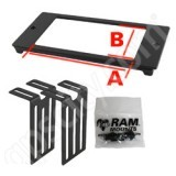 RAM Mount RAM Custom 4 inch Faceplate for Console RAM-FP4-6721-2851