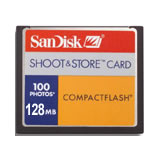 SanDisk 128MB CF Data Card