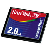 SanDisk 2GB CF Data Card