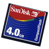 SanDisk 4GB CF Data Card