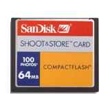 SanDisk 64MB CF Data Card