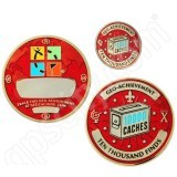 Geocaching Official 10000 Finds Geocoin Achievement Award Set