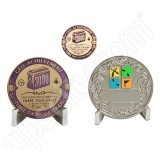 Geocaching Official 3000 Finds Geocoin Achievement Award Set