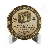 Geocaching Official 4000 Finds Geocoin Achievement Award Set