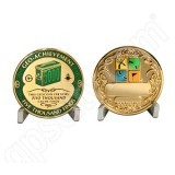 Geocaching Official 5000 Finds Geocoin Achievement Award