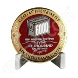 Geocaching Official 6000 Finds Geocoin Achievement Award