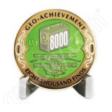 Geocaching Official 8000 Finds Geocoin Achievement Award