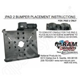 RAM Mount RAM-HOL-AP8L Locking Cradle Mount Instruction Sheet RMR-INS-AP8L