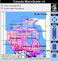 Garmin MapSource MetroGuide Canada v5.0 Coverage Map