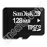 SanDisk 128MB microSD Data Card with Adapter