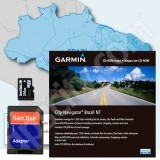 Garmin microSD City Navigator Brazil NT 2010 Card with Adapter