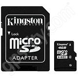 Kingston 4GB microSD Data Card with Adapter