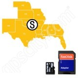 Navionics HotMaps Platinum South USA Lakes microSD with SD Adapter