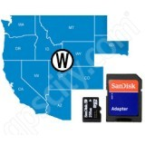 Navionics HotMaps Platinum West USA Lakes microSD with SD Adapter