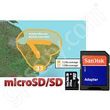 Garmin TOPO Great Britain Peddards Way and Norfolk Coast Path microSD Card