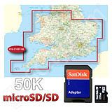Garmin TOPO Great Britain 50K Southern England and Wales microSD Card