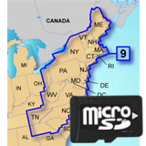 Garmin TOPO US 100K Upper East Coast microSD Card Region 9