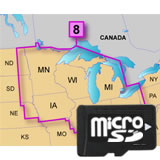 Garmin TOPO US 100K W Great Lakes microSD Card Region 8