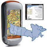 Garmin Oregon 300 with Canadian Topo mapping